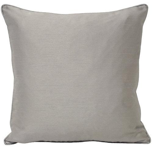 Fiji Faux Silk Cushion - Steel 43cm x 43cm