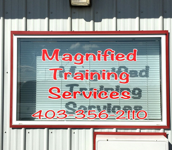 Magnified Training Services Window Decal