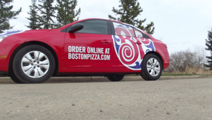 Boston Pizza Car