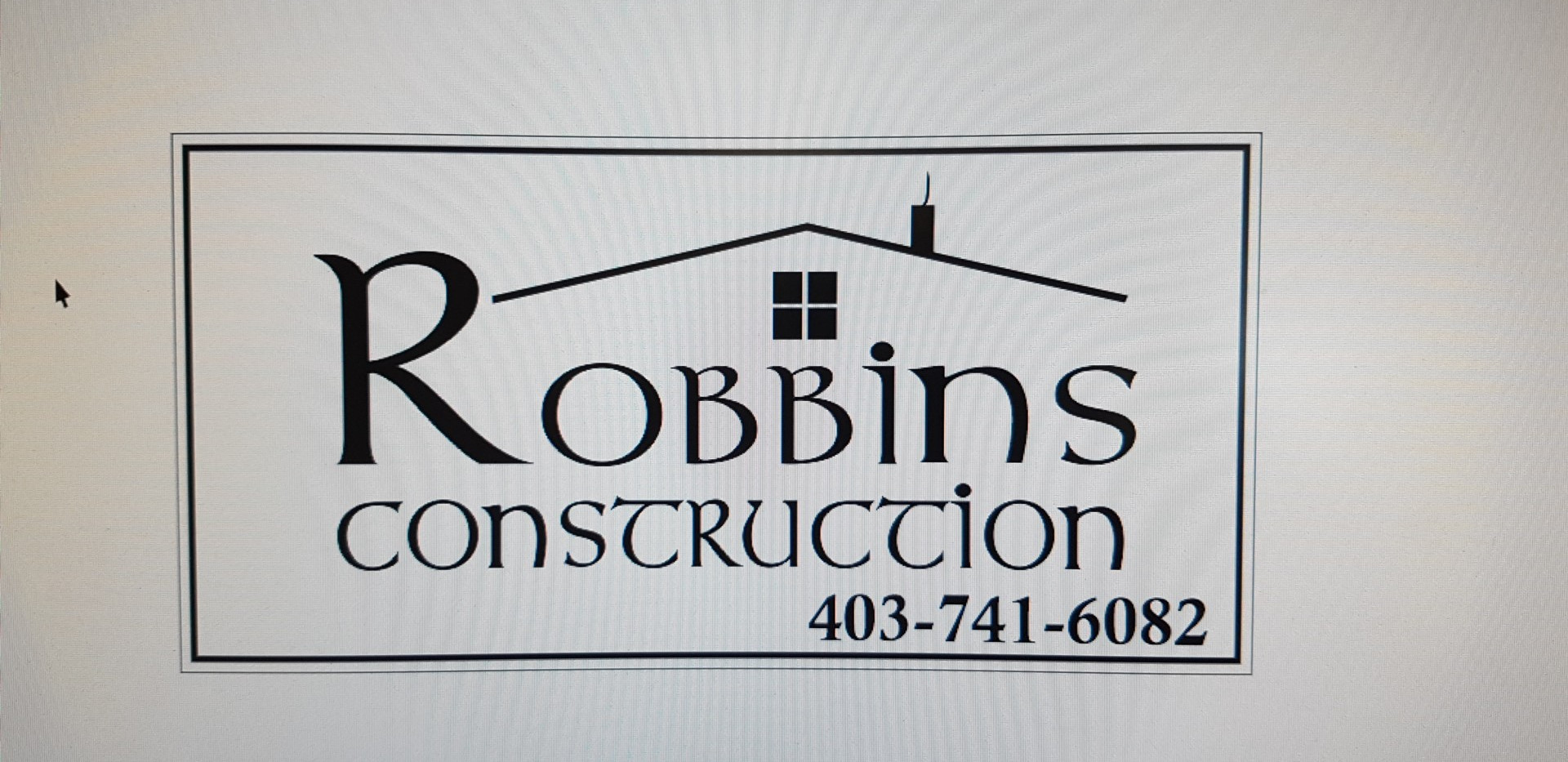 Robbins Construction Logo Design