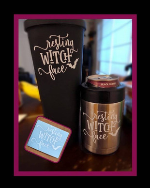 Resting Witch Face Decals