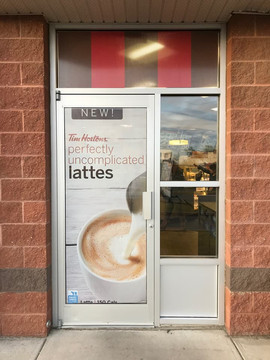 Tim Horton's Window Signs