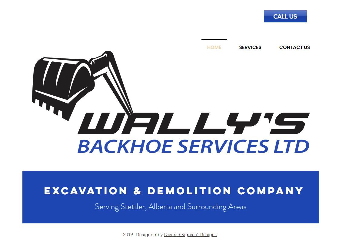 Wally's Backhoe Services Ltd Website.JPG