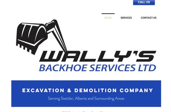 Wally's Backhoe Services Ltd Website.JPG
