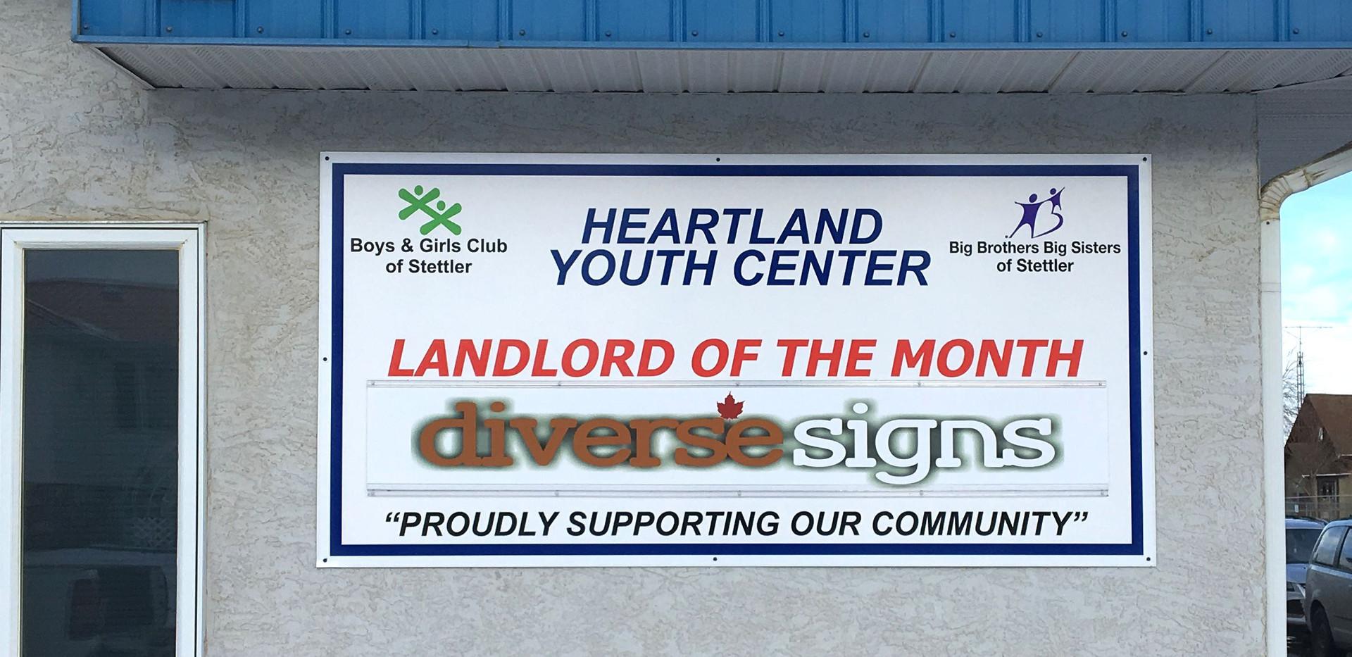 Heartland Youth Center Landlord Sign.JPG