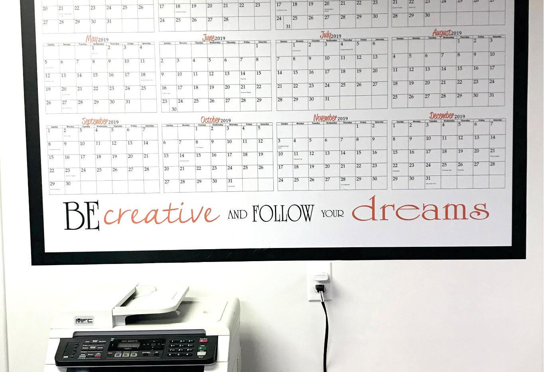 Office Wall Calendar