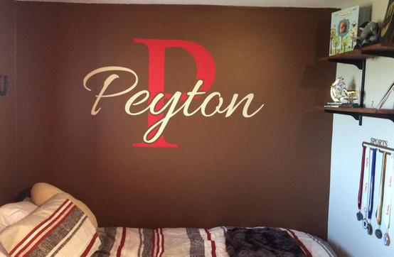 Peyton Monogram Wall Art