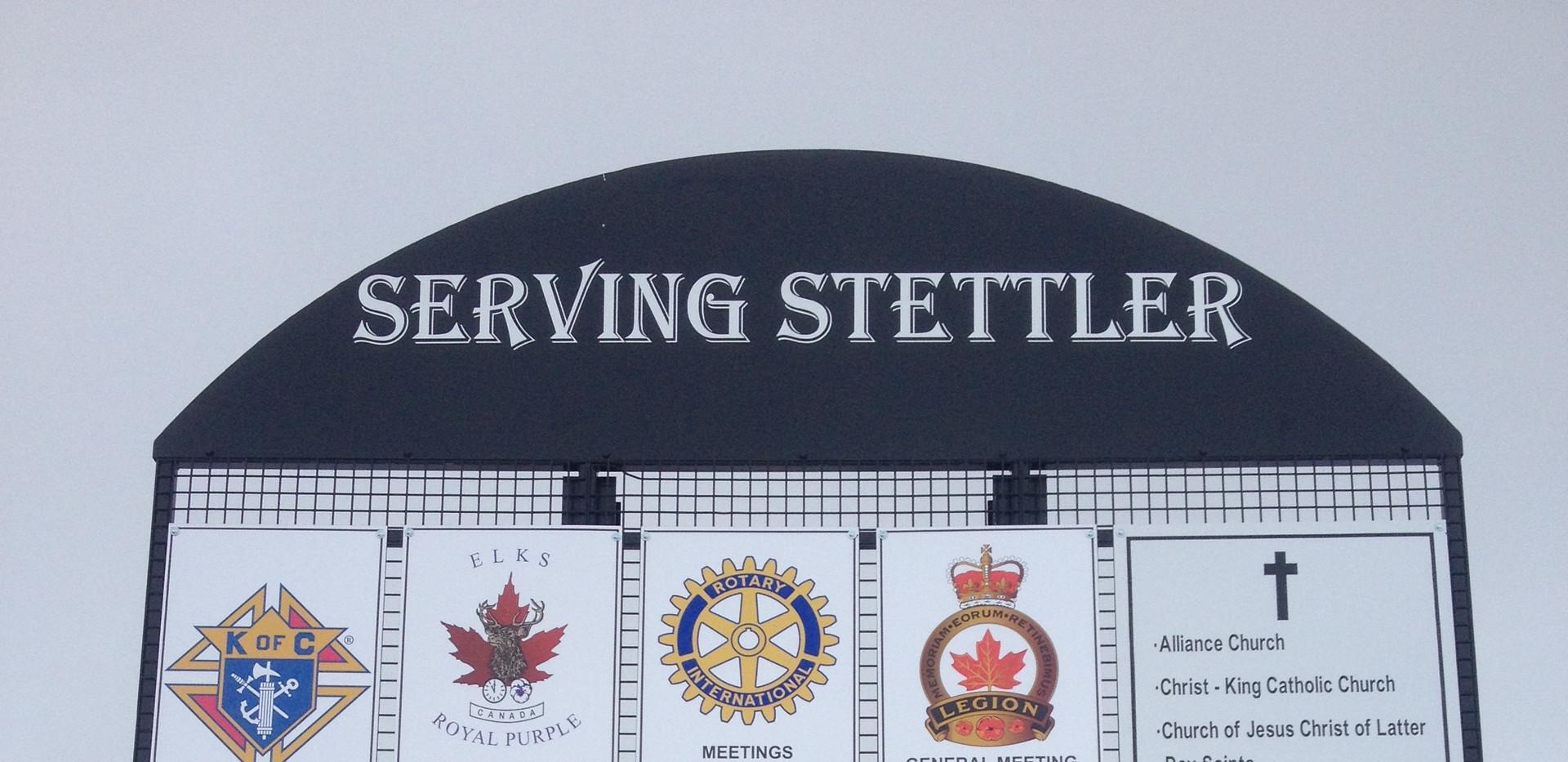 Serving Stettler Signs