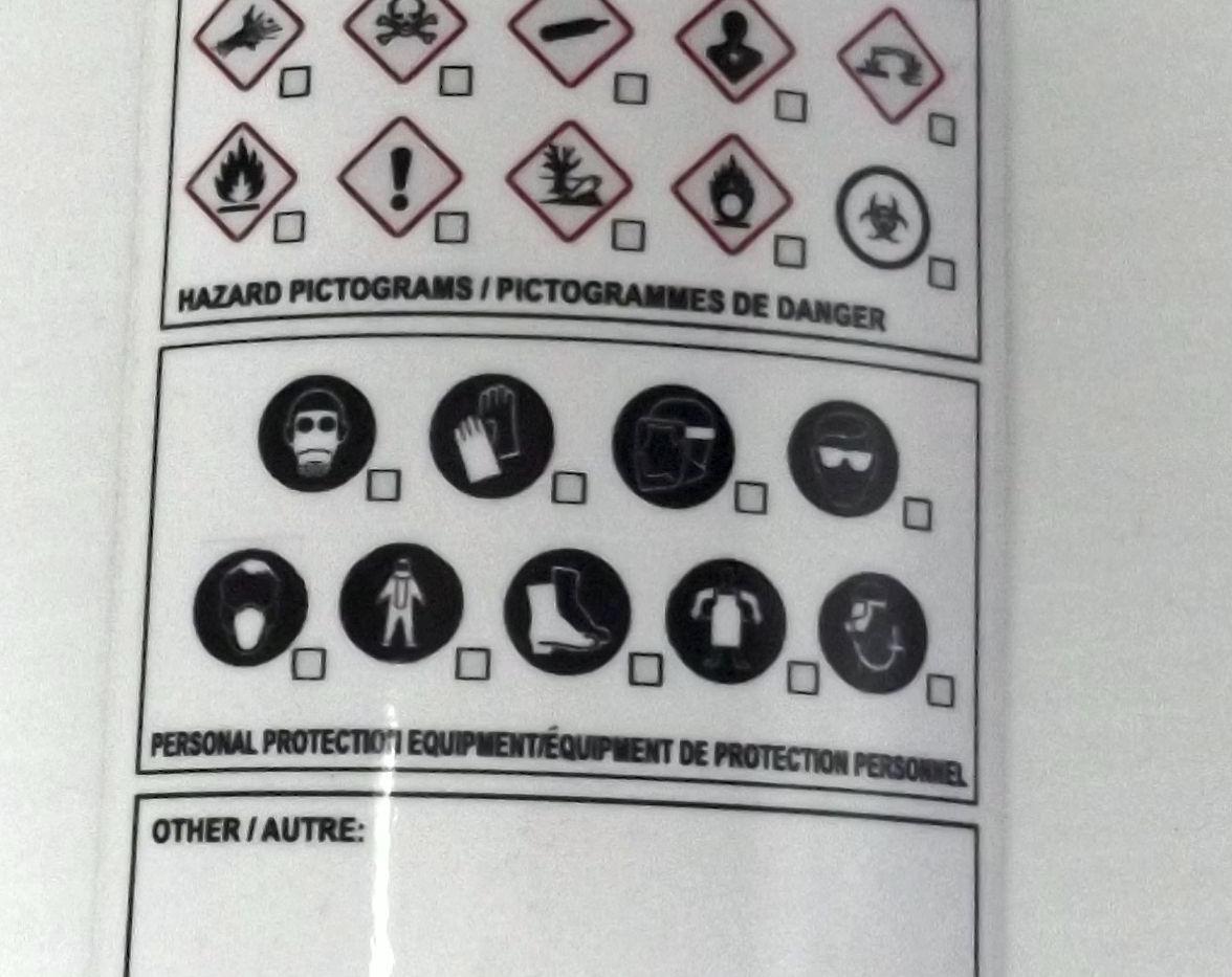 Blank Product Identifyer Label