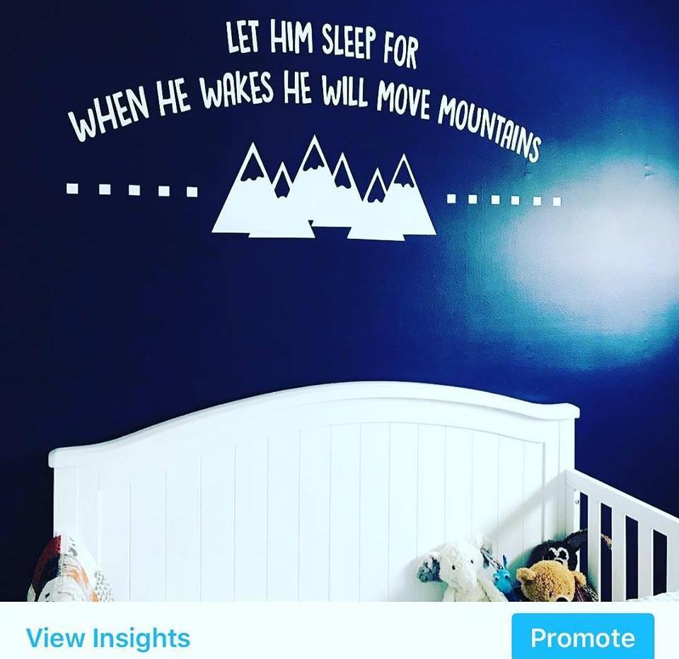 Let Him Sleep Wall Art