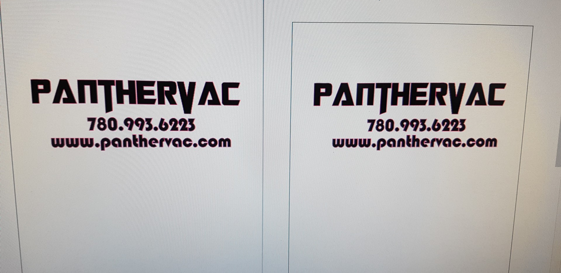 PantherVac Logo Design