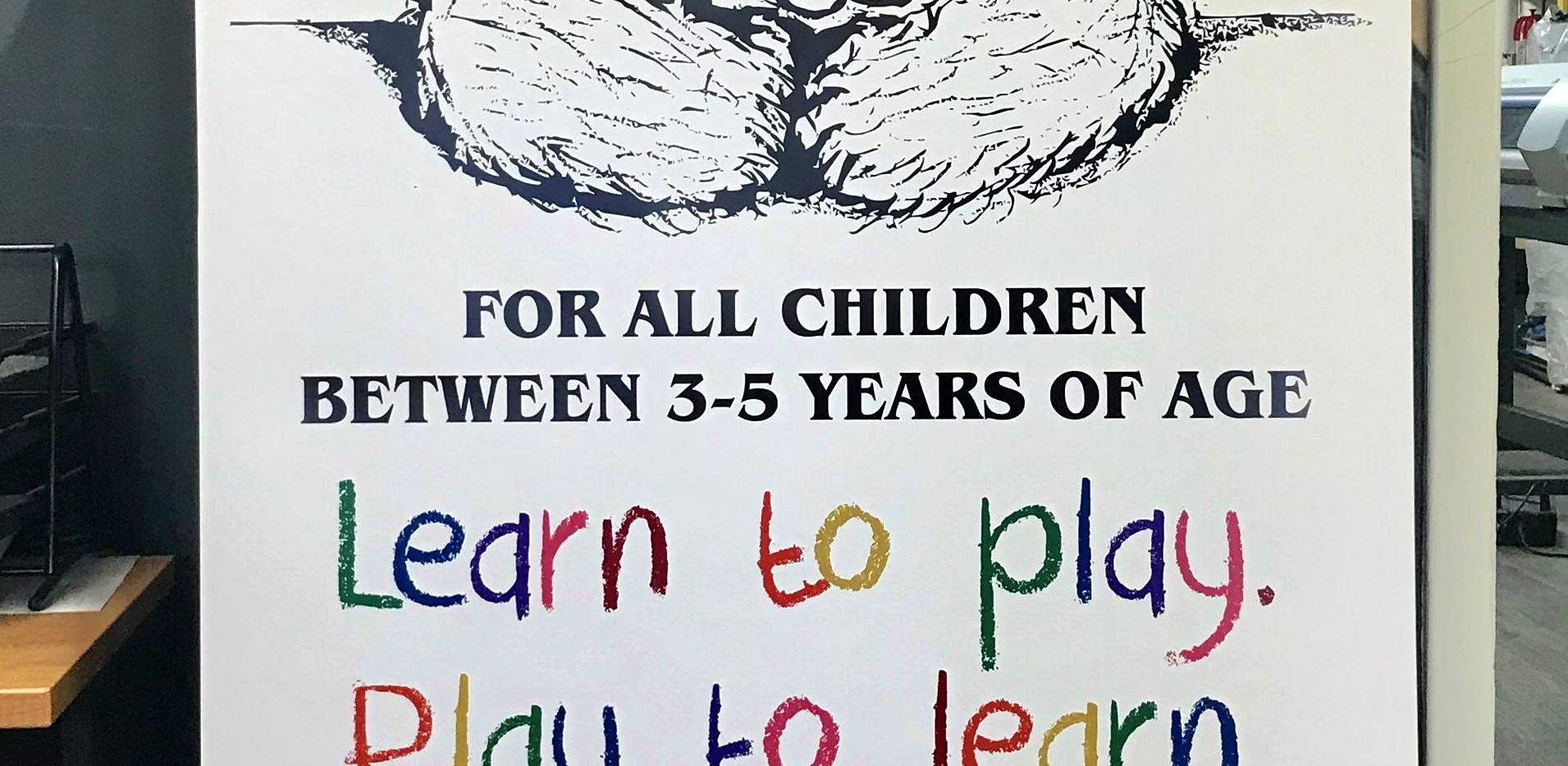 Sharebear Playschool Banner design
