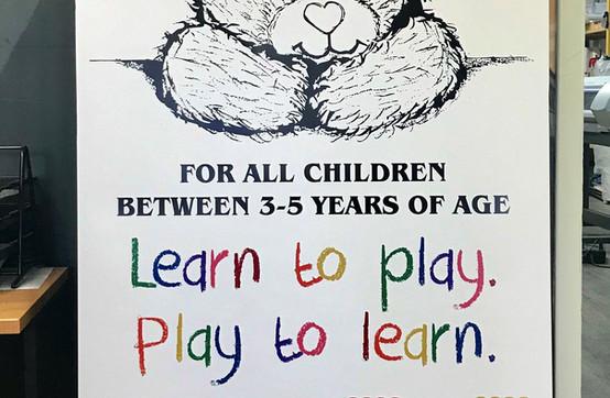 Sharebear Playschool Banner design