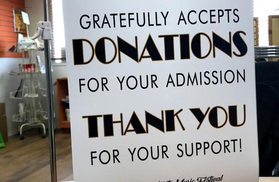 Stettler Music Festival Donation sign.jp