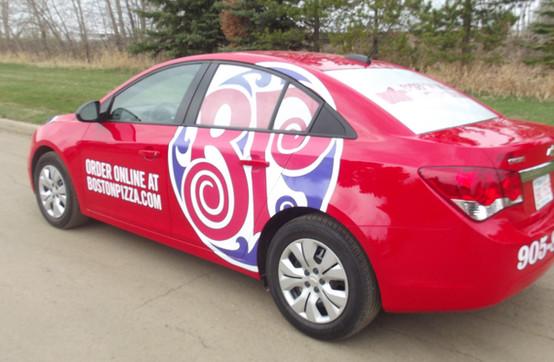 Boston Pizza Delivery Car