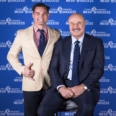 The Flying Chef Nathan Huxham with Dr Phil McGraw