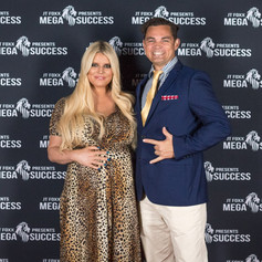 The Flying Chef Nathan Huxham with Jessica Simpson