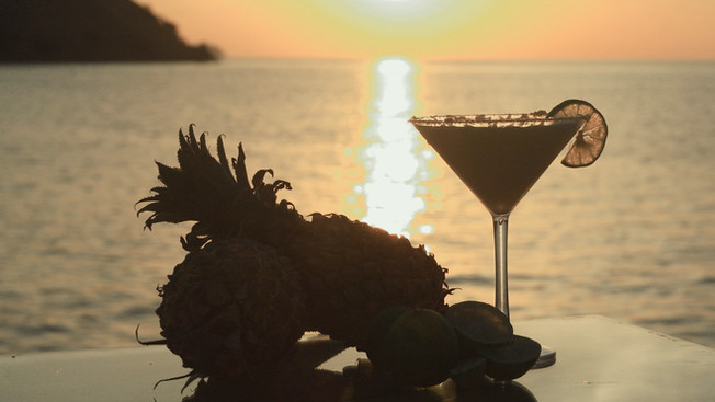 The Flying Chef | the key lime martini money shot