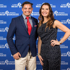 The Flying Chef Nathan Huxham with Blue Lagoon star Brooke Shields