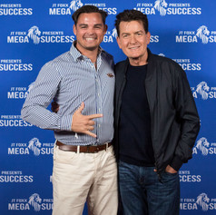 The Flying Chef Nathan Huxham with Charlie Sheen