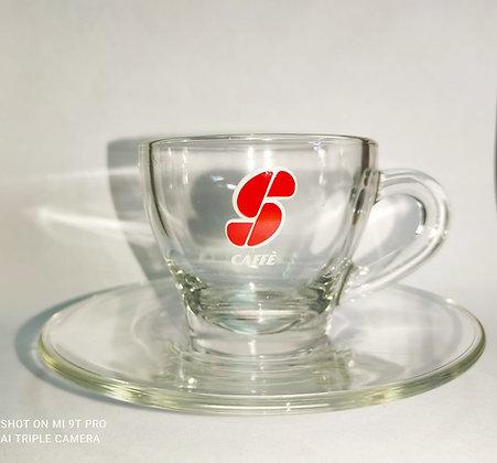 Essse Caffe זוג ספלי זכוכית לאספרסו של