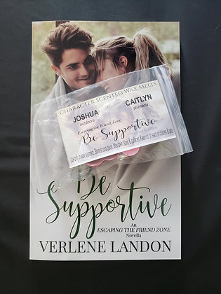 Be Supportive Signed Paperback + Character Scented Wax Melts