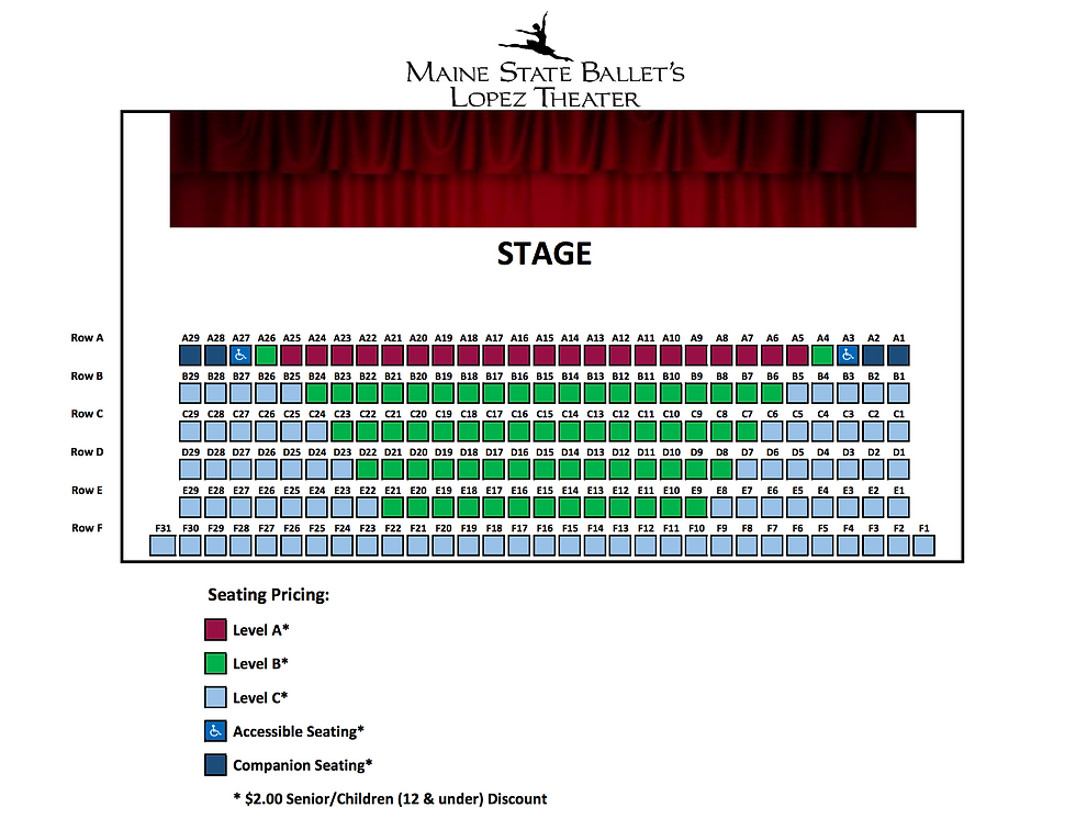 Maine State Ballet Theater Seating Chart