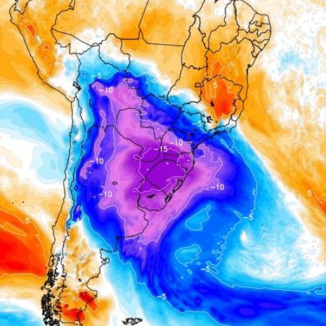 Semana pode ser uma das mais geladas da década em Cachoeira do Sul e Região