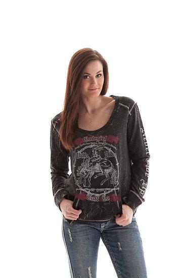 Black crew sweatshirt (H00367)