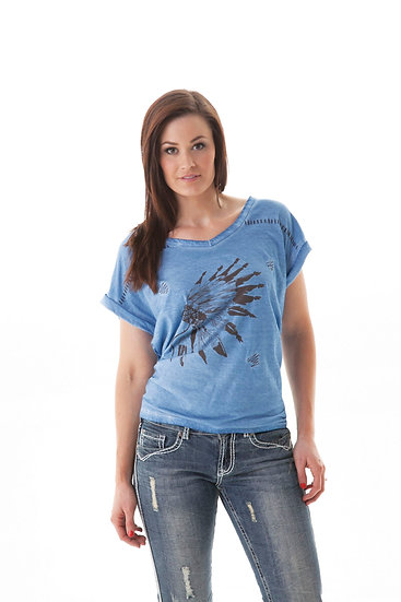 Blue short sleeve tee (000429)