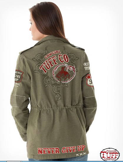 Army Green Military Jacket (H00491)