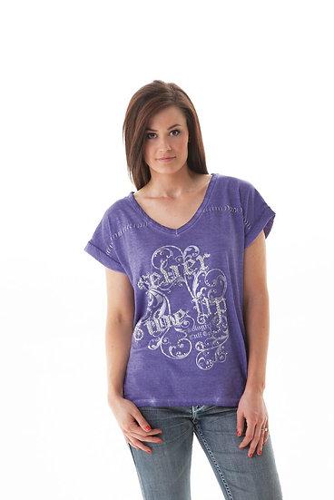 Purple V-Neck Tee (000438)