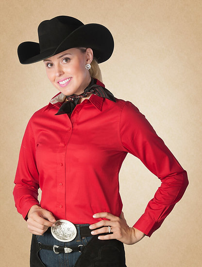 Red Anabelle Show Blouse (3567-09)