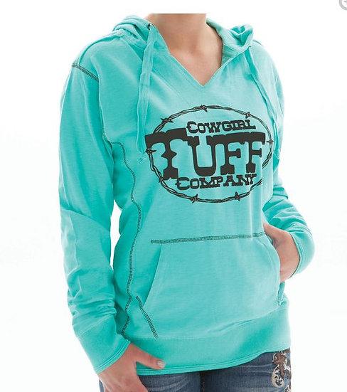 Turquoise Slub Hoodie (100005)