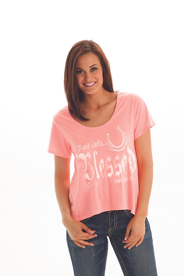 Pink high low tee (S00570)