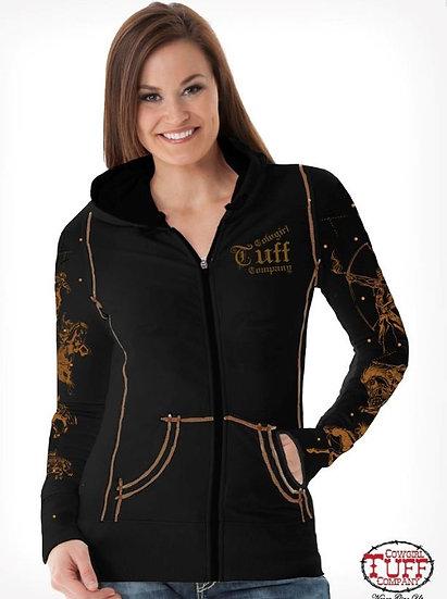 Black athletic zip hoodie (H00519)