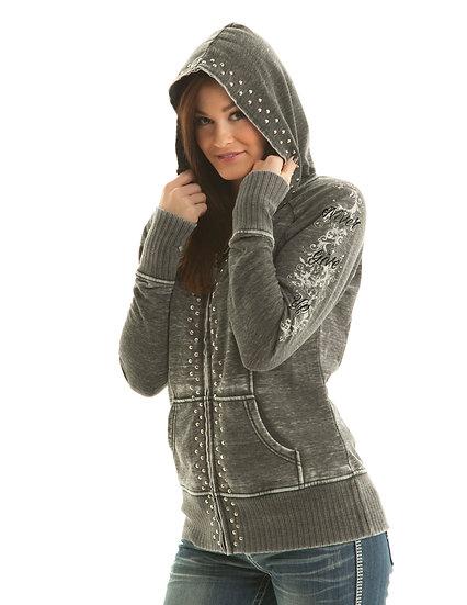 Dark Grey Zip Hoodie (F00206)