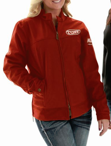 Red Microfibre Jacket (H00354)