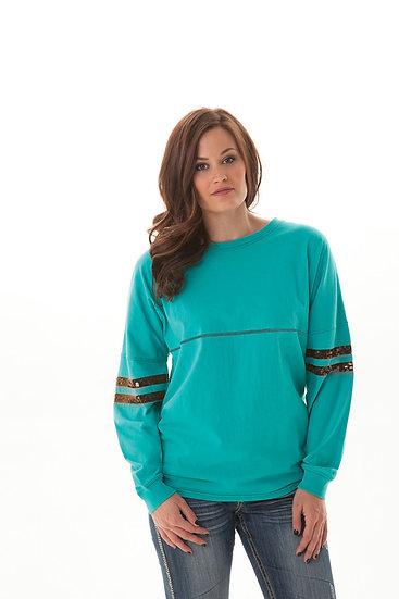 Turquoise oversized tee (H00385)