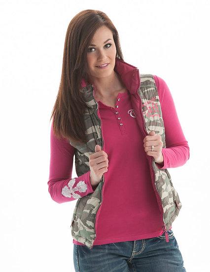 Camo/pink reversible vest (F00187)