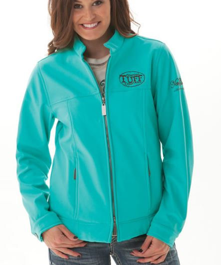 Turquoise Microfibre Jacket (H00379)