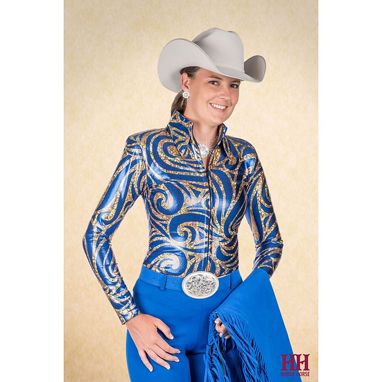 Athena Show Blouse - Royal (3711-011)
