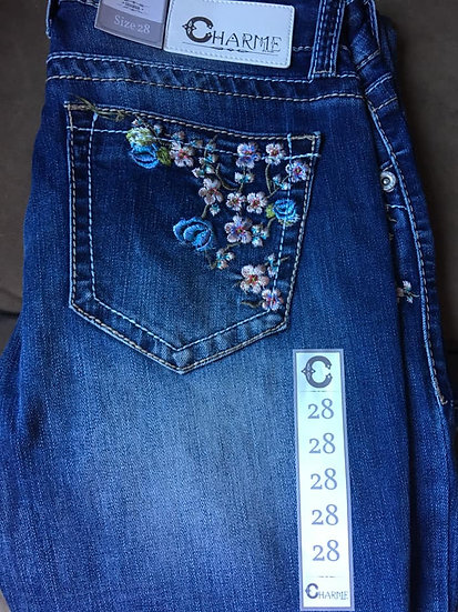 Charme Easy Fit Floral Jeans (CEB6112)