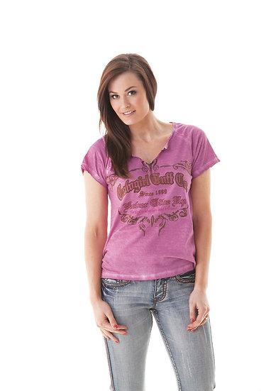 Pink short sleeve tee (000428)