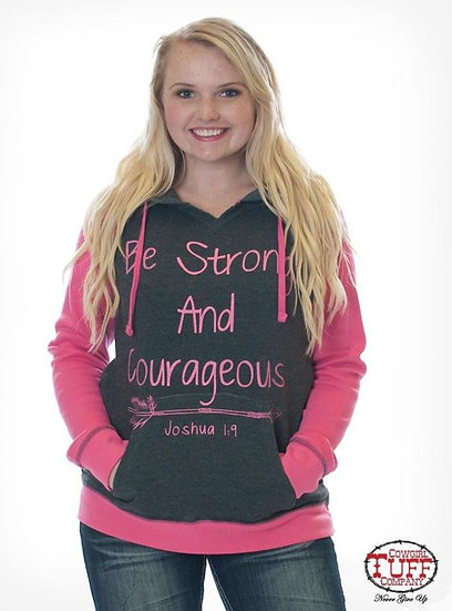 Pink and charcoal hoodie (S00871)