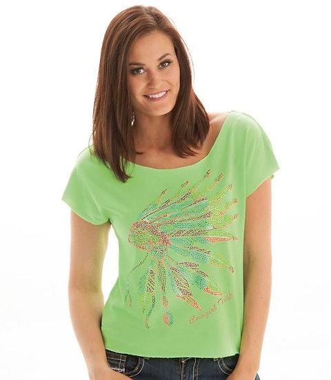 Neon green short sleeve tee (S00556)