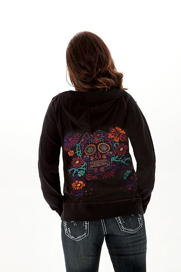 Black Thermal zip hoodie (H00398)