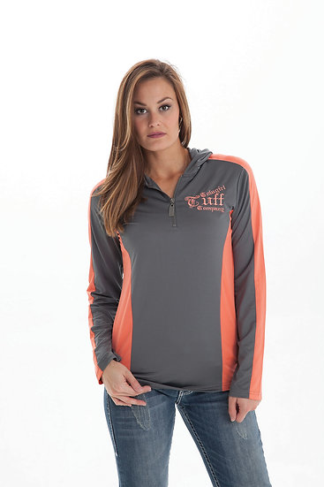 Gray/Coral athletic top (F00260)