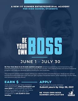 Be Your Own Boss –  IYT Summer Entrepreneurial Program