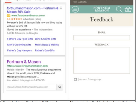 [REVIEW] FORTNUM & MASON MOBILE SITE